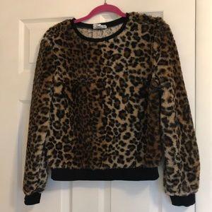For The Republic Leopard Sweatshirt